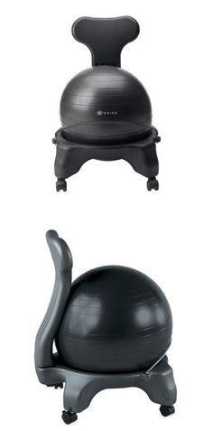 {Balance Ball Chair} Crazy looking, but comfy...