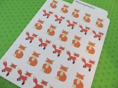 Fox Stickers for Erin Condren Kikki-K Filofax by PlanningPerfect #planner #stickers #erincondren #lifeplanner #kikkik #plumpaperplanner #filofax #planning #scrapbook #fox #cute #woodland #animals