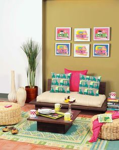Well, Thereu0027s No Doubt, Prints Can Pep Up Any Space And That It Will. Living  Room ...