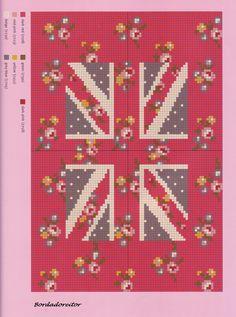 floral Union Jack chart