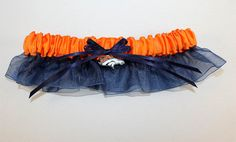 Denver Broncos Inspired Garter with Licensed Charm