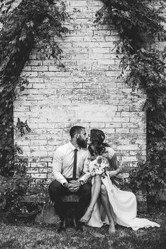 Sweet bride and groom portrait | Kait Photography | See more: http://theweddingplaybook.com/intimate-outdoor-wedding/