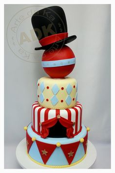 Circo - Circus cake.                                    I love her work, Karine Alves creates masterpieces, a shame that they must be cut at all!