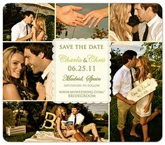 """Better Together 6 Photo Collage"" Save the Date Magnet"