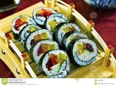 Japanese Food, Sushi Maki Platter Royalty Free Stock Photo - Image ...
