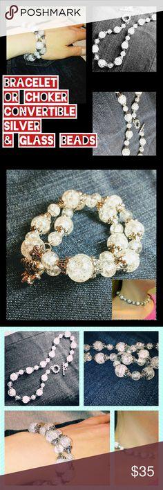 I just added this listing on Poshmark: Convertible Glass & silver choker BRACELET WRAP. #shopmycloset #poshmark #fashion #shopping #style #forsale #Jewelry