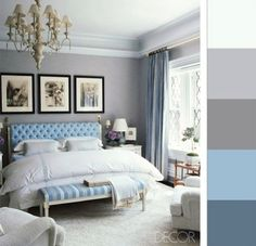 cyan, light blue bedroom ideas #lightcolors #lightblue #calm #greyblue