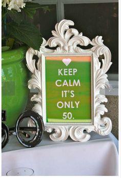 Uma festa de 50 anos para inspirar a mulher 50+ na sua festa , dando idéias de decoração