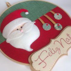 Quadro Bastidor Papai Noel