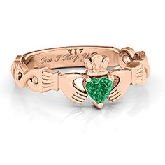Infinity Claddagh with Heart Stone Ring #jewlr