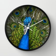Peacock Wall Clock by Zen and Chic - $30.00