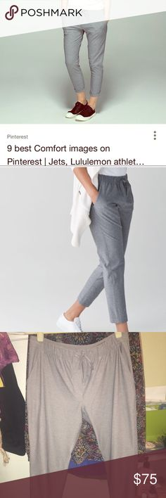 Jet crop slims Maybe worn 1-2 times. Bought for work and then got a new job where i can't wear these! I have a couple other pairs and i love them! Great condition lululemon athletica Pants Track Pants & Joggers