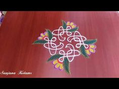Very Simple And Very Easy Festival Kambi Kolam. Rangoli Designs Flower, Small Rangoli Design, Rangoli Designs Images, Rangoli Designs With Dots, Rangoli Designs Diwali, Diwali Rangoli, Rangoli With Dots, Beautiful Rangoli Designs, Simple Rangoli
