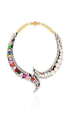 Piuma Necklace In Multi by Shourouk for Preorder on Moda Operandi