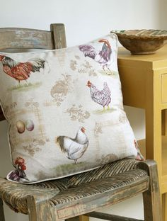 French Hens with Arles bringing out the modern rustic  country look