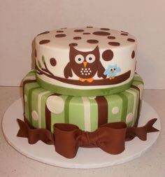 baby shower cakes for a boy WITH OWLS | ... going to have words on it just a momma owl and a baby owl like this