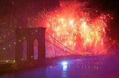 #NEWYORK #SWD #GREEN2STAY Fireworks, hot dogs, hurricane help mark Fourth of July across U.S. Fireworks light up the sky above the Brooklyn Bridge during Macy's Fourth of July fireworks show, Friday, July 4, 2014, in New York. (AP Photo/Mark Lennihan