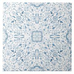 Blue Mosaic Tile, Blue Tiles, Blue Tile Backsplash Kitchen, Patterned Kitchen Tiles, Decorative Tile Backsplash, Spanish Pattern, Spanish Tile, Watercolor Pattern, Tile Patterns