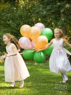 http://www.zibastudio.com/ #flowergirls #balloons #wedding