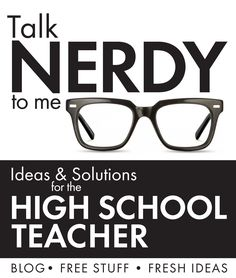 ideas and solutions for high school english teachers - free stuff and fresh ideas High School Classroom, English Classroom, School Teacher, English Teachers, Classroom Ideas, Teacher Librarian, Ela Classroom, Teacher Blogs, Teacher Resources