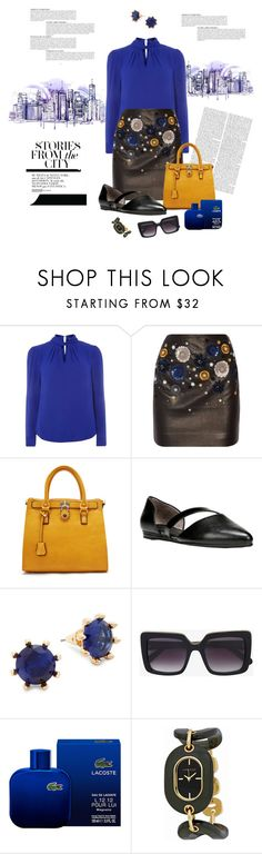 """""""Stories from the city"""" by romaosorno ❤ liked on Polyvore featuring Dorothy Perkins, Topshop Unique, Ann Creek, LifeStride, Eddie Borgo, STELLA McCARTNEY, Lacoste, Anne Klein and Anja"""
