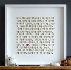lovely wedding gift - use pages from a romantic novel