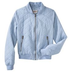 Mossimo Supply Co. Junior's Quilted Jacket -Light Blue