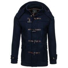 Pánsky jesenný tmavo modrý kabát - fashionday.eu Motorcycle Jacket, Leather Jacket, Nike, Jackets, Fashion, Studded Leather Jacket, Down Jackets, Moda, Leather Jackets