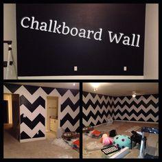 Chevron + Chalkboeard Wall = Best Toy Room Ever VVVV