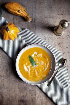 Roasted pumpkin and butternut squash soup recipe made in the Vitamix