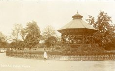 The bandstand next to Clissold House, Clissold Park, Stoke Newington