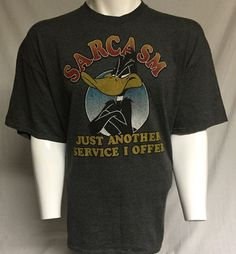 Daffy Duck Sarcasm Just Another Service I Offer XXL Short Sleeve Tee T-Shirt 2XL #LooneyTunes #GraphicTee