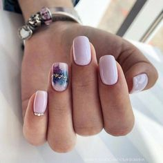 Nail art Christmas - the festive spirit on the nails. Over 70 creative ideas and tutorials - My Nails Nail Manicure, Toe Nails, Nail Polish, Stylish Nails, Trendy Nails, Periwinkle Nails, Nagellack Trends, Beach Nails, Colorful Nails