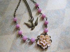 garden necklaces...pretty.
