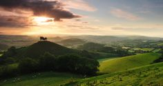 This green and pleasant land by Andreas Jones, via 500px. Coolmers Hill, Dorset, England.