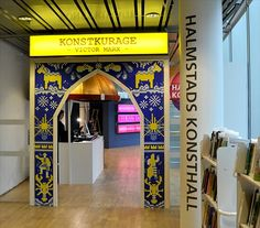 Utställningen Konstkurage på Halmstads konsthall. Del av konstverket A new Sweden.
