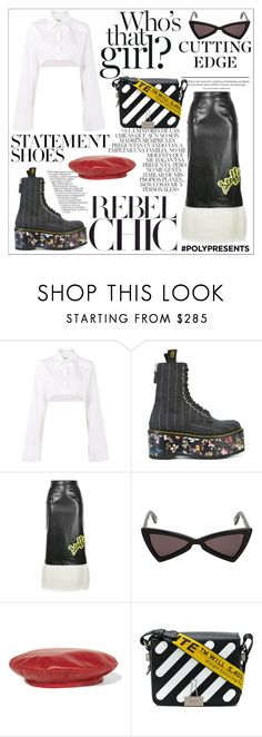 """""""#PolyPresents: Statement Shoes"""" by neon-fox ❤ liked on Polyvore featuring Off-White, Prada, Whiteley, R13, G.V.G.V., Yves Saint Laurent, Gucci, contestentry and polyPresents"""
