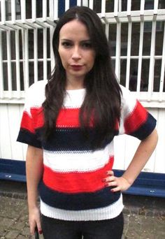 Vintage Stripy Knitted Top