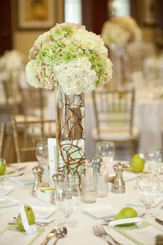 Hydrangea Center Pieces at Port Royal Club House.