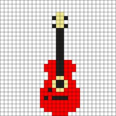 Red Guitar by Mrlemondrop on Kandi Patterns