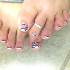 Cute toe nail design-I did these myself! (Those are my toes!) -PW