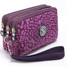 Brand Nylon Purse Double Layer Pocket With Zipper