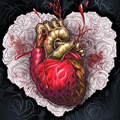 Heart by RoD78 , via Behance