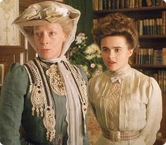 "Maggie Smith and Helena Bonham Carter, ""A Room With A View"", 1985."