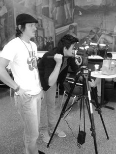 You'll see lots of equipment in the student lounge for production workshops. New York Film Academy, Student Lounge, Visual And Performing Arts, Movie Camera, Movie Film, Vintage Movies, Tripod, Cinematography, All Over The World