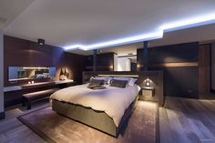 fabulously lit bedroom