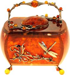 Amlong Crystal 3 inch Amber Crystal Ball with Redwood Lion Resin Stand and Gift Box for Decorative Ball, Lensball Photography, Gazing Divination or Feng Shui, and Fortune Telling Ball Vintage Luggage, Vintage Purses, Vintage Bags, Vintage Handbags, Amber Crystal, Crystal Ball, Gem Crafts, Amber Stone, Beaded Bags