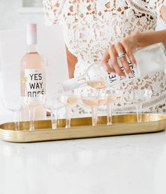 Pink Gold Baby Shower - Rosé #yeswayrosé #rose