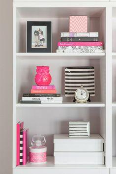 Karen Davis' Playful & Pink Office {Office Tour} | The Office Stylist