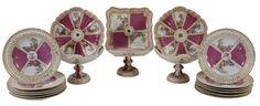 Set de sobremesa em porcelana Alema Dresden do sec.19th, 5,610 USD / 5,150 EUROS / 22,670 REAIS / 36,670 CHINESE YUAN soulcariocantiques.tictail.com